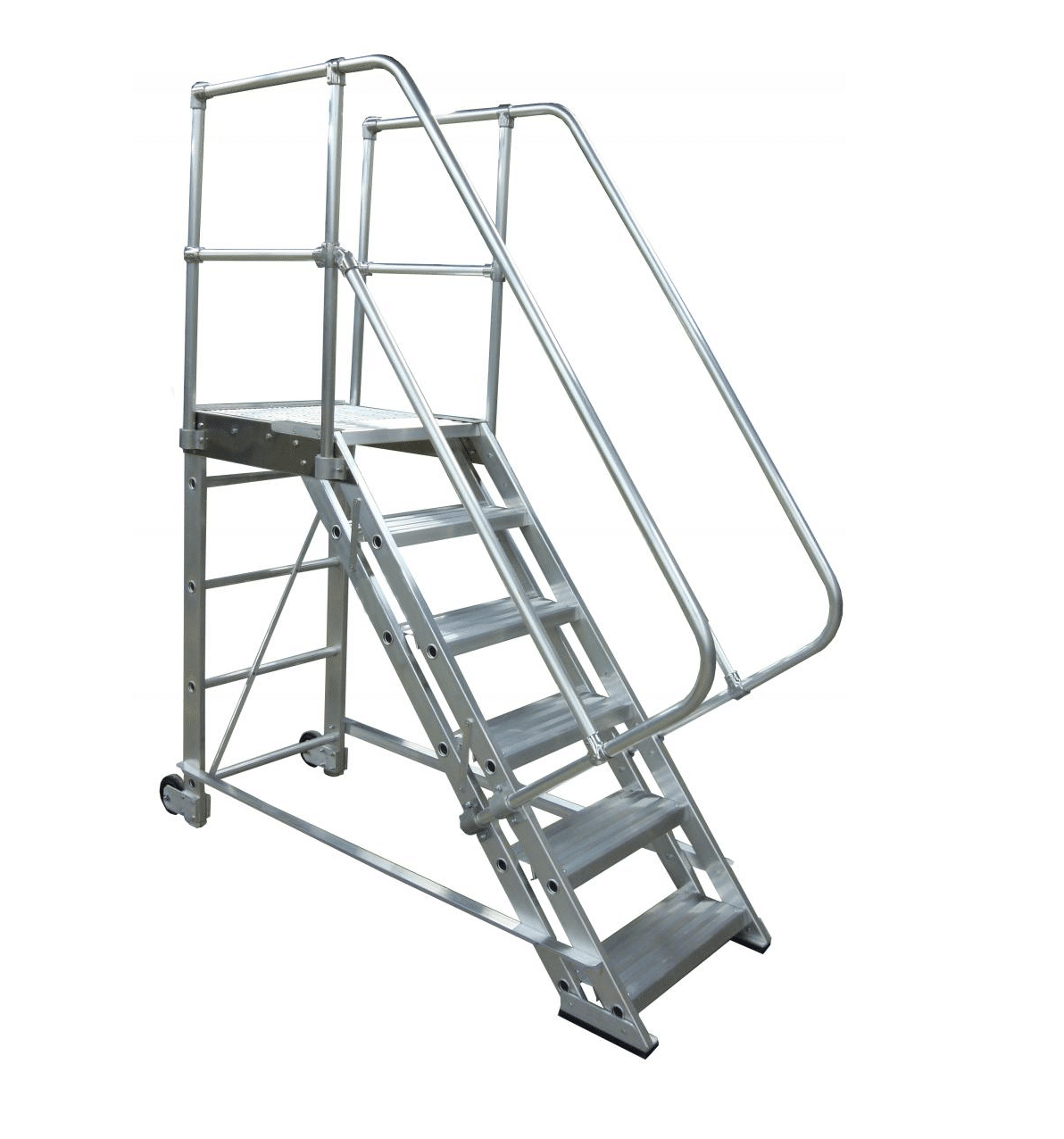 Rolling Aluminum Stairs Metallic Ladder Manufacturing Corp