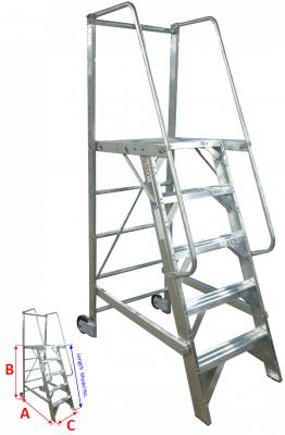 Aircraft Maintenance Ladders Metallic Ladder