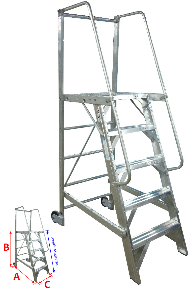 Rolling Platform Ladders Metallic Ladder Corporation