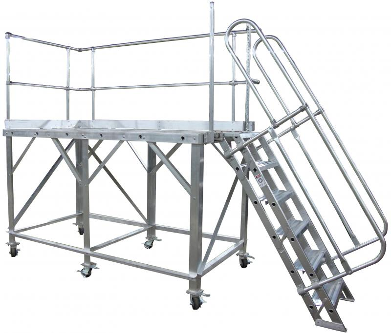 Truck Trailer Work Platform Metallic Ladder