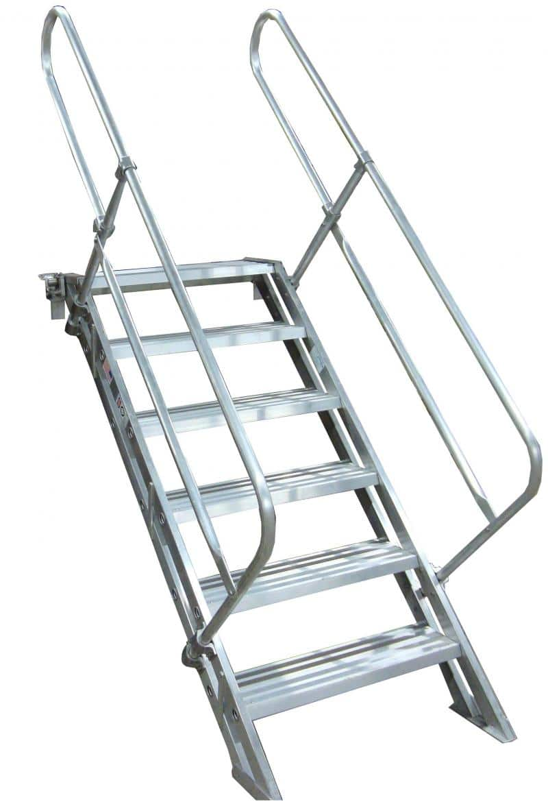 Removable Aluminum Stairways Metallic Ladder