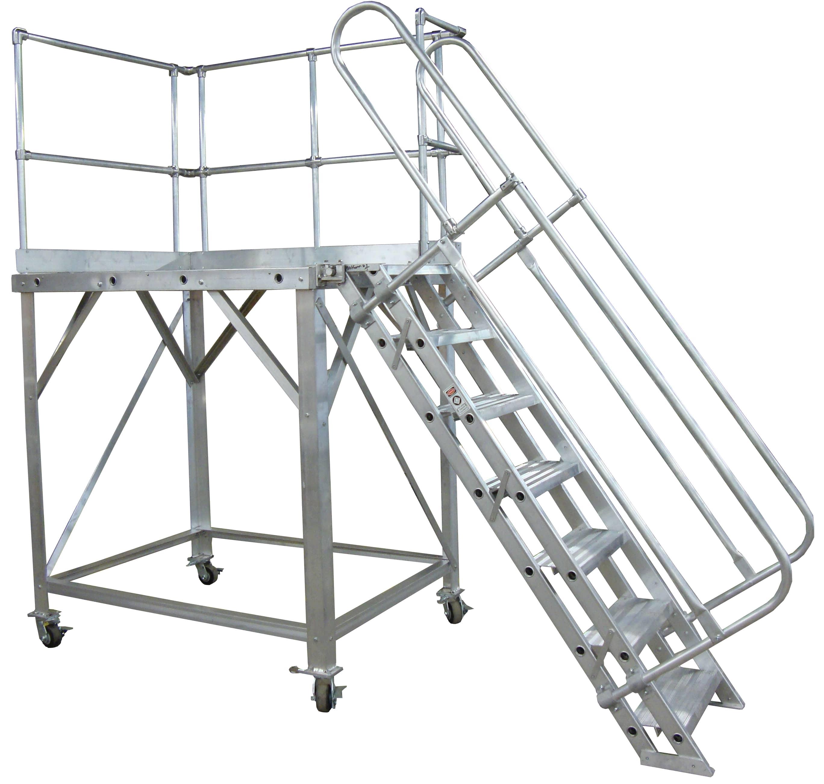Rolling Work Platforms Metallic Ladder Manufacturing Corp